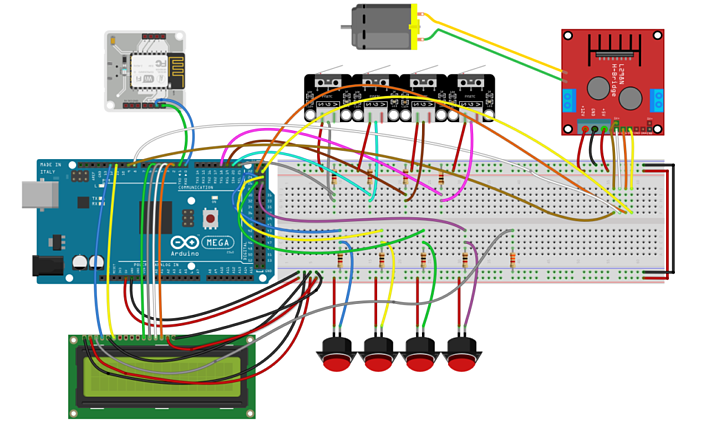 The Schematic for the connections