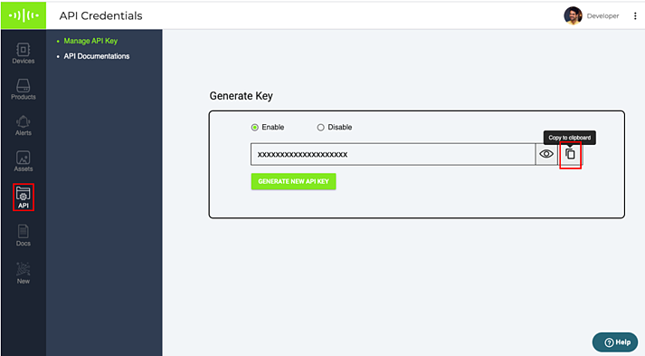5. Copy API key