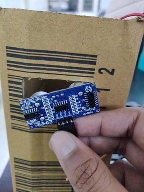 inserting ultrasonic sensor