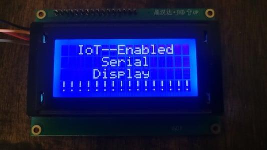 IOT enabled Serial Display copy